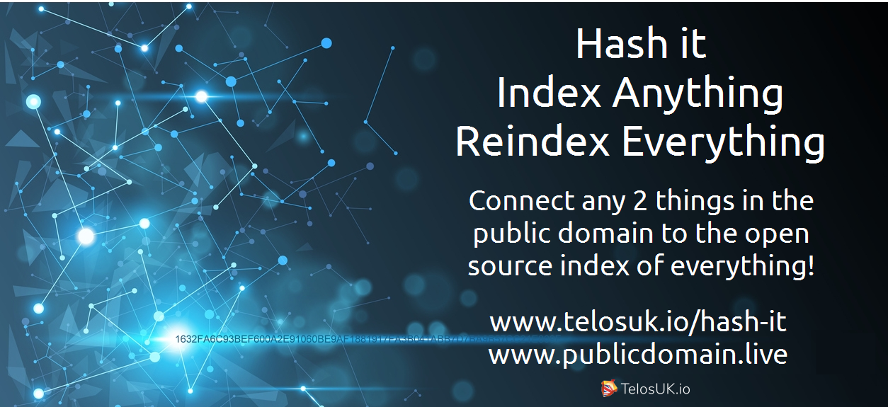 Hash it to the Public Domain – The open source index of everything
